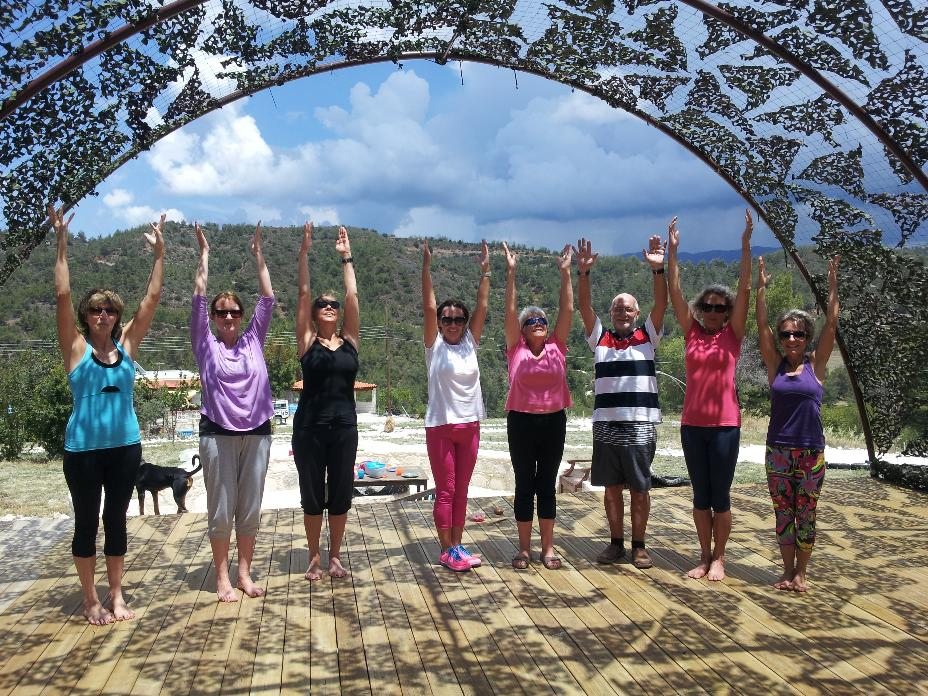 Yoga workshop in nature with Not Just Yoga